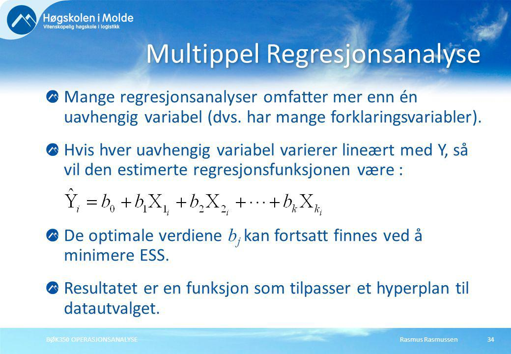 Multippel Regresjonsanalyse