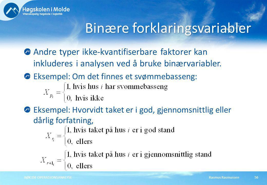 Binære forklaringsvariabler
