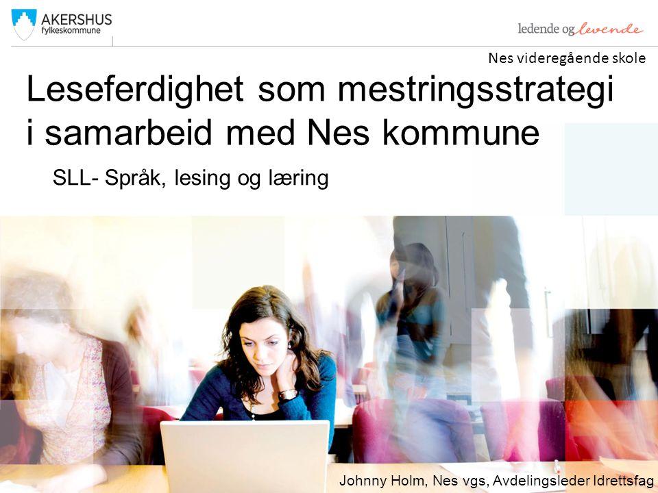 Leseferdighet som mestringsstrategi i samarbeid med Nes kommune