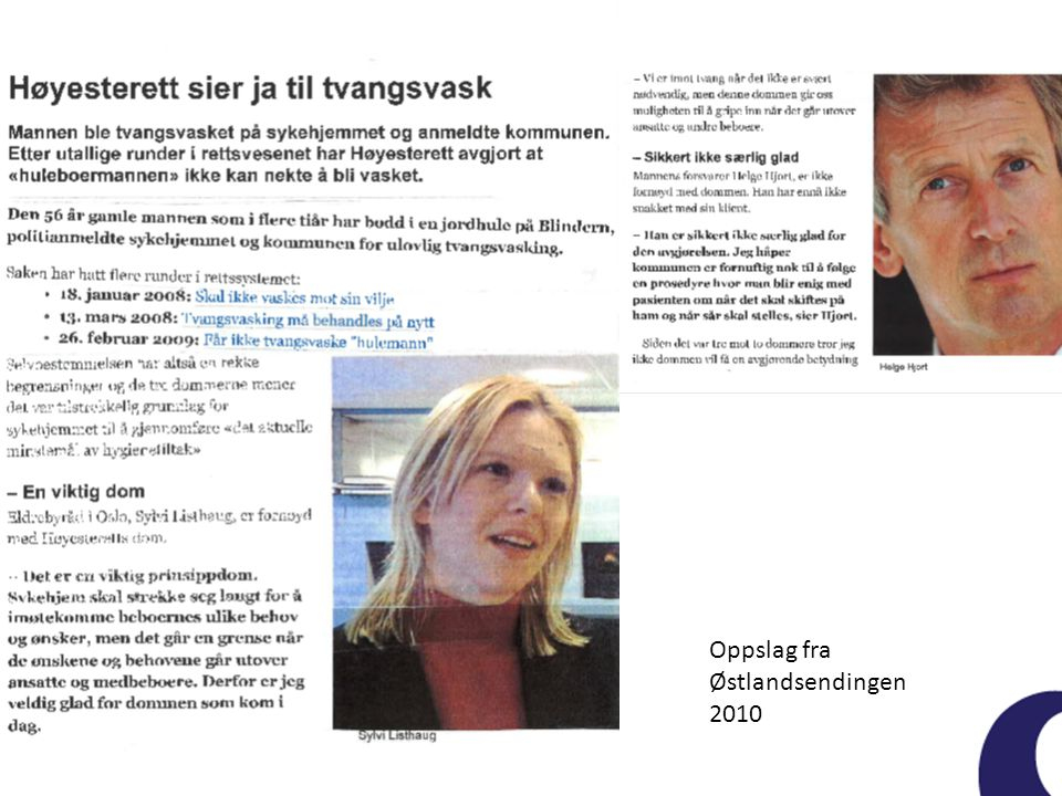 Oppslag fra Østlandsendingen 2010