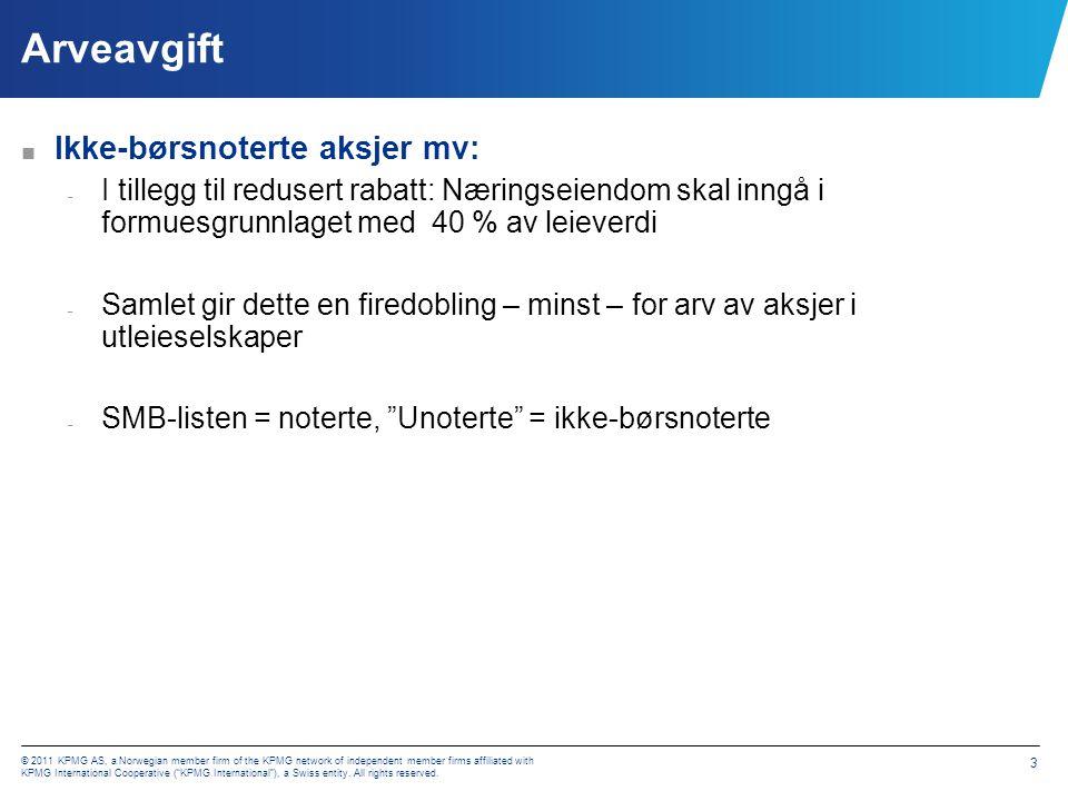Arveavgift Ikke-børsnoterte aksjer mv: Innført tak for aksjerabatten
