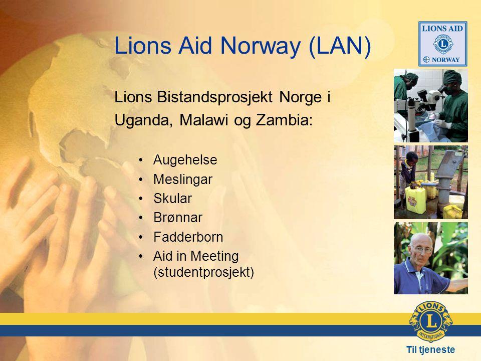 Lions Aid Norway (LAN) Lions Bistandsprosjekt Norge i