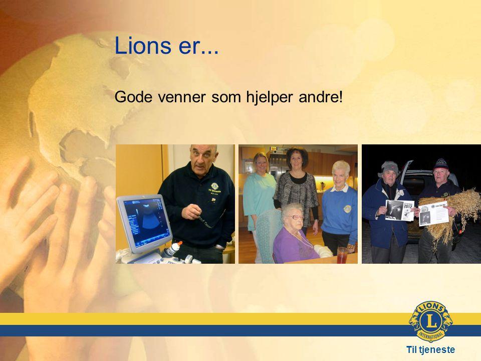 Lions er... Gode venner som hjelper andre! Frå venstre: