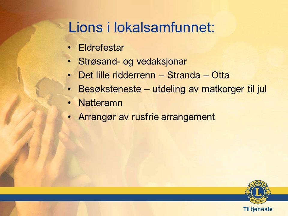 Lions i lokalsamfunnet: