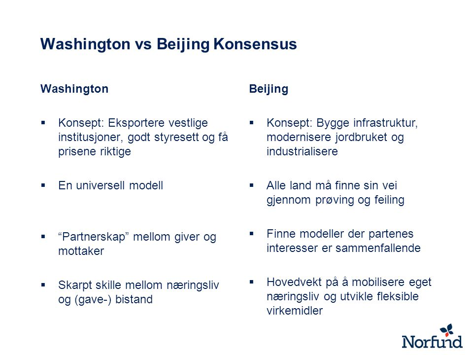 Washington vs Beijing Konsensus