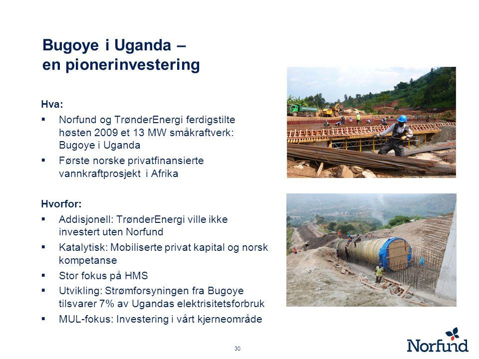 Bugoye i Uganda – en pionerinvestering