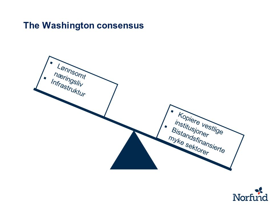 The Washington consensus