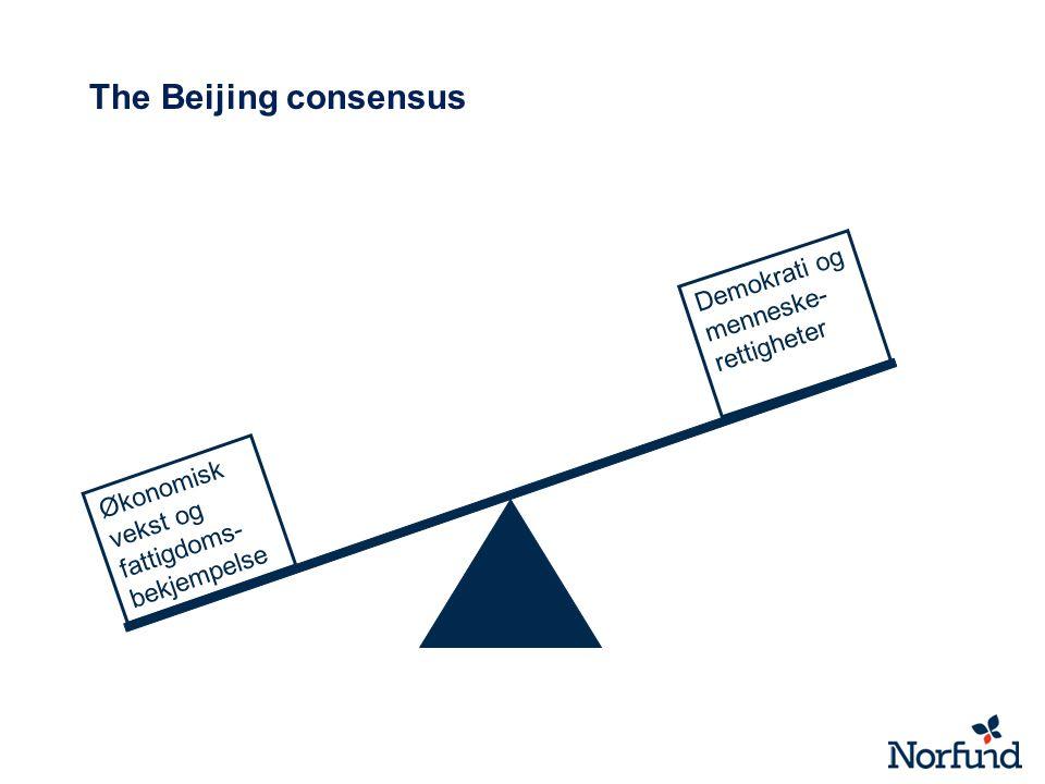 The Beijing consensus Demokrati og menneske-rettigheter