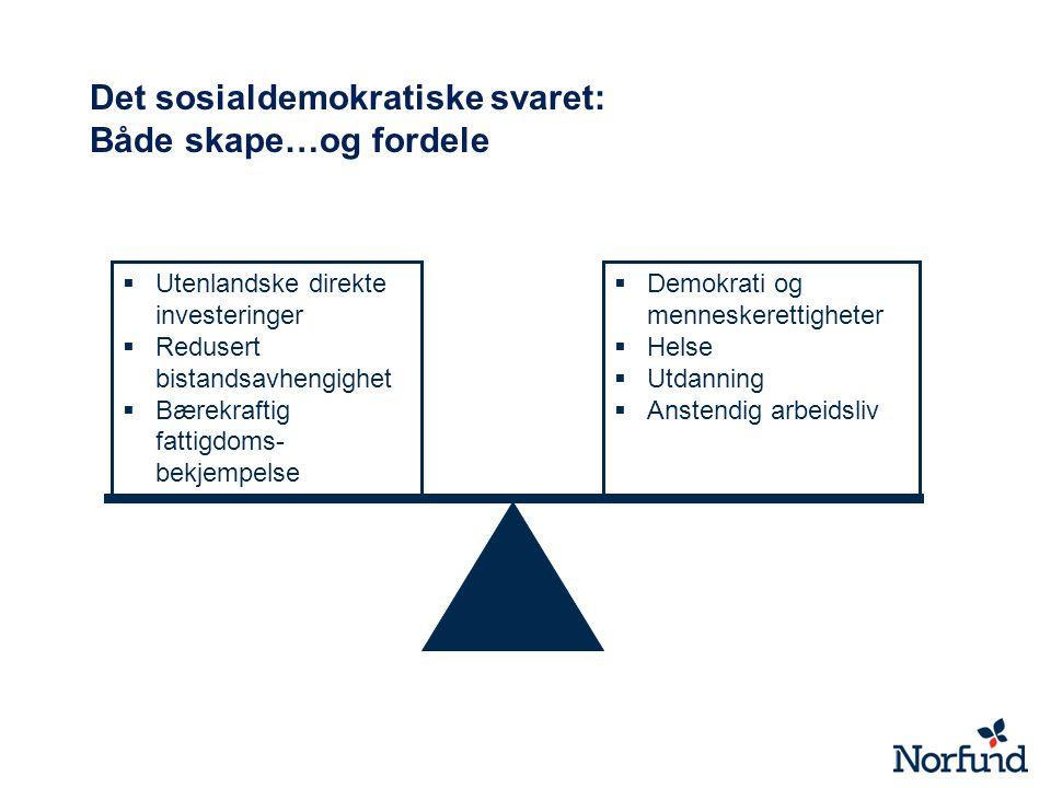 Det sosialdemokratiske svaret: Både skape…og fordele