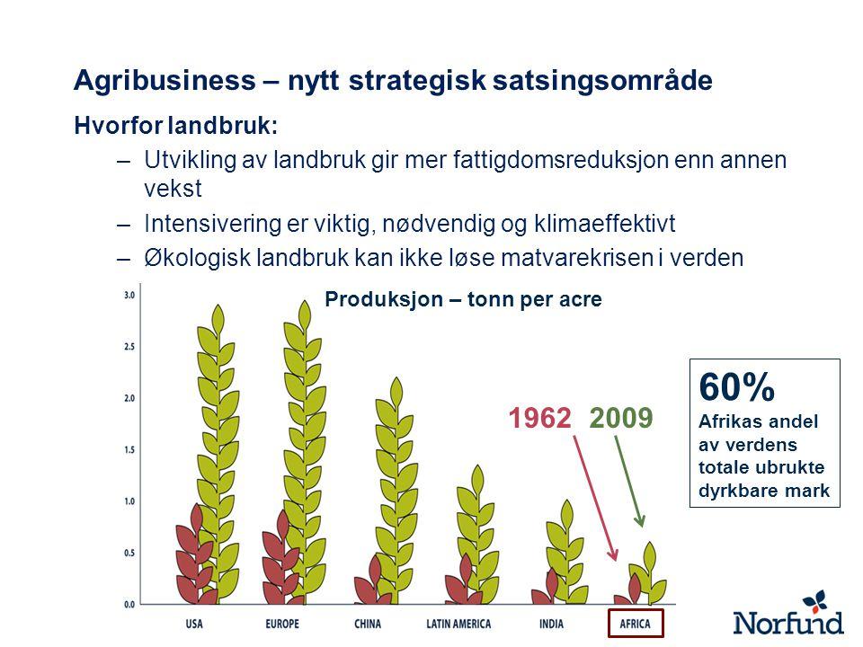 Agribusiness – nytt strategisk satsingsområde