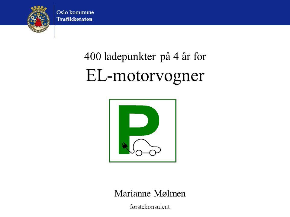 400 ladepunkter på 4 år for EL-motorvogner