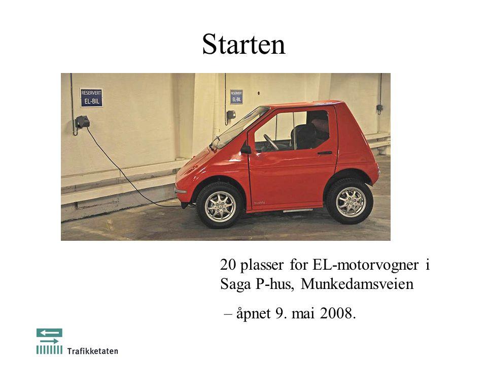 Starten 20 plasser for EL-motorvogner i Saga P-hus, Munkedamsveien