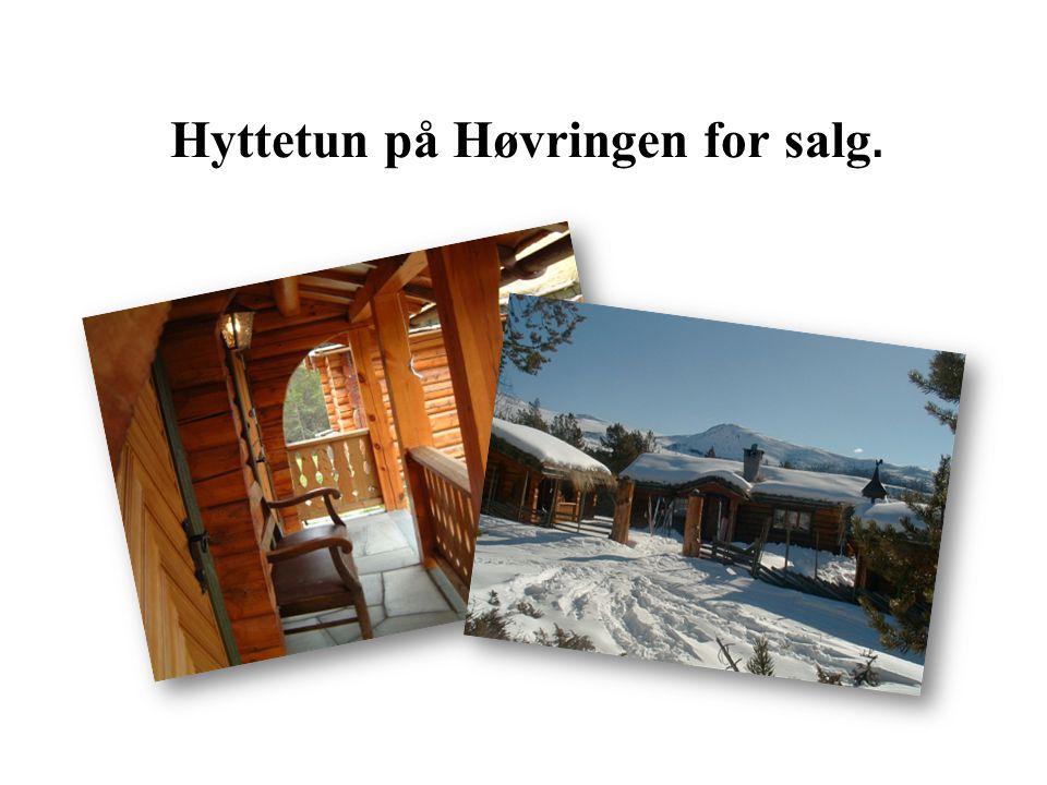 Hyttetun på Høvringen for salg.