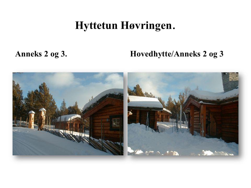 Hyttetun Høvringen. Anneks 2 og 3. Hovedhytte/Anneks 2 og 3
