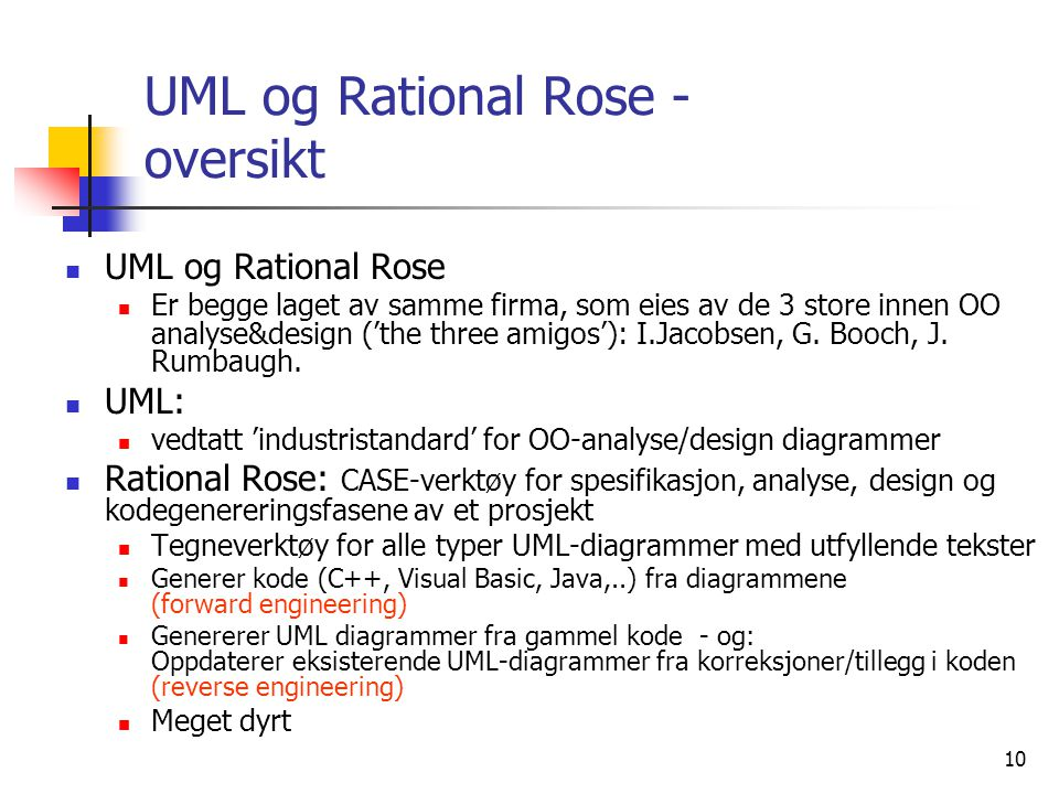 UML og Rational Rose - oversikt