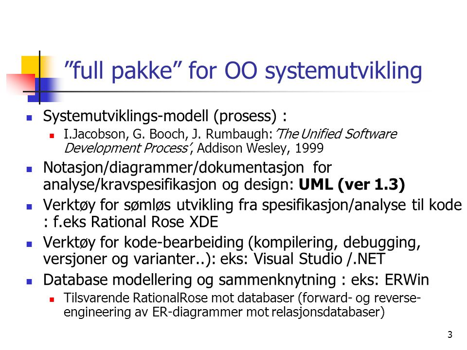 full pakke for OO systemutvikling