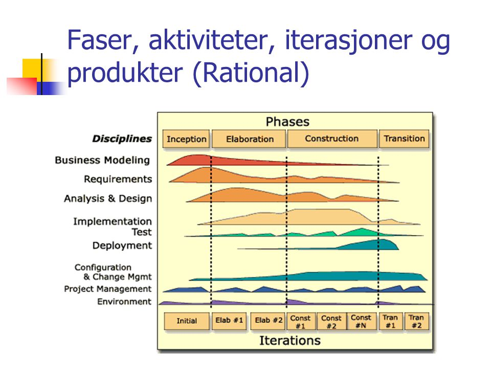Faser, aktiviteter, iterasjoner og produkter (Rational)