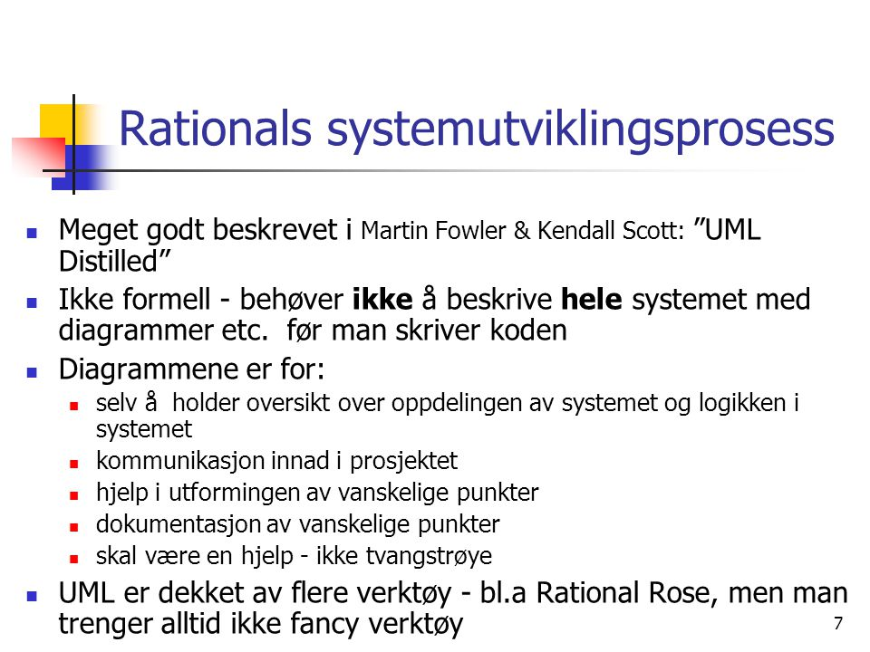 Rationals systemutviklingsprosess
