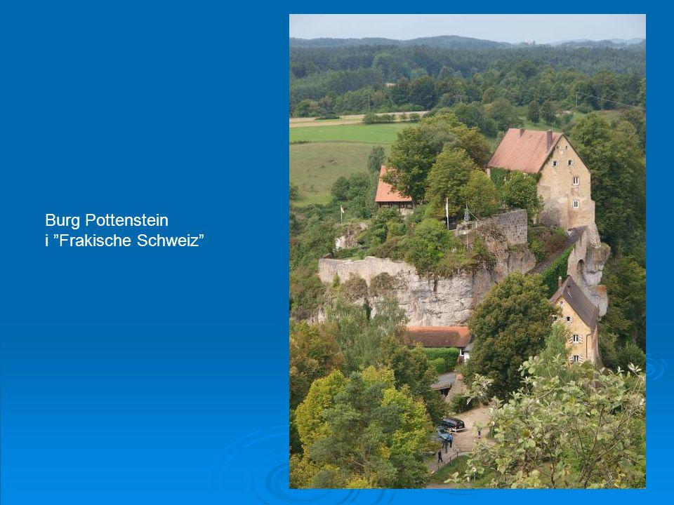 Burg Pottenstein i Frakische Schweiz