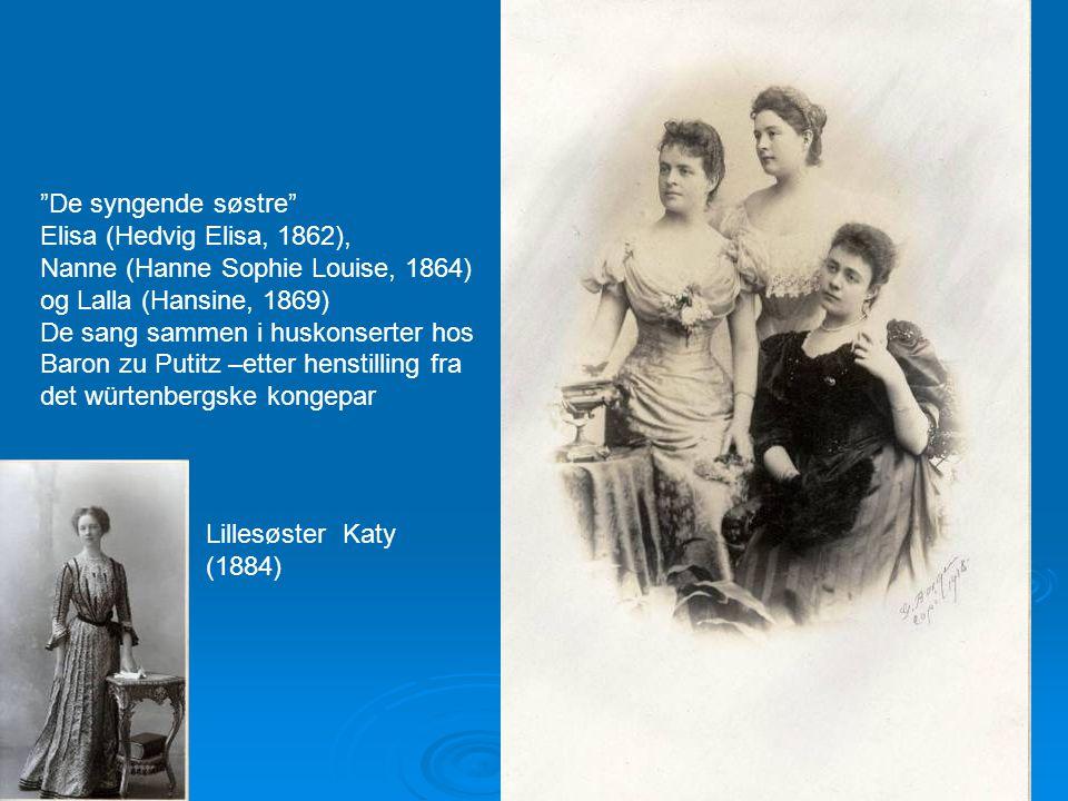 Nanne (Hanne Sophie Louise, 1864) og Lalla (Hansine, 1869)