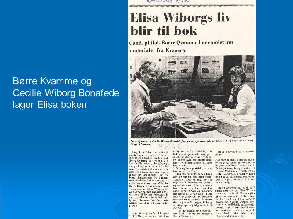 Cecilie Wiborg Bonafede lager Elisa boken