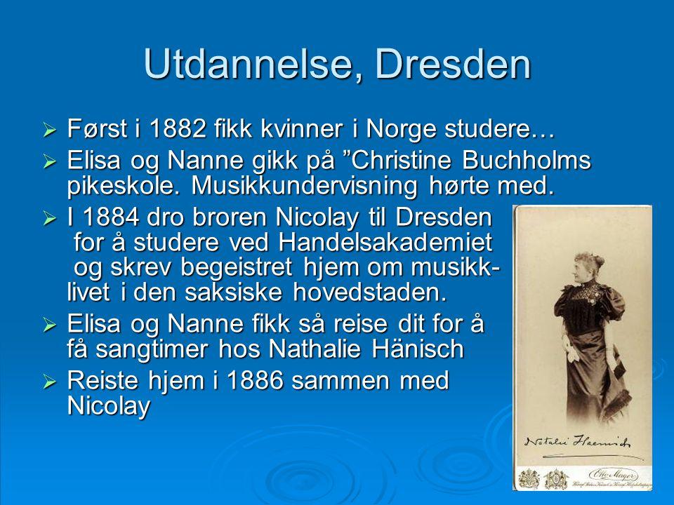 Utdannelse, Dresden Først i 1882 fikk kvinner i Norge studere…