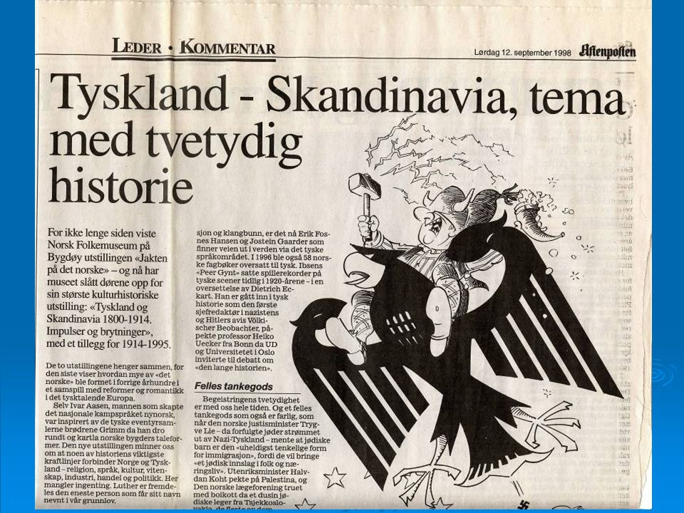 Utstillingen i 1998. Kulturelle forbindelser Tyskland-Norge