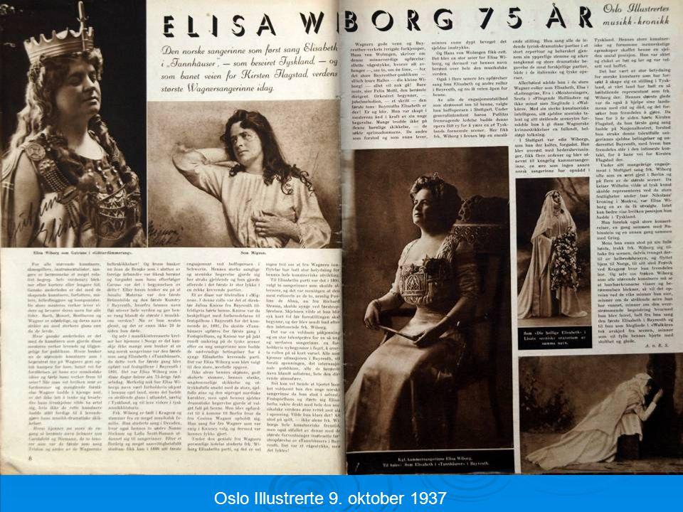 Oslo Illustrerte 9. oktober 1937