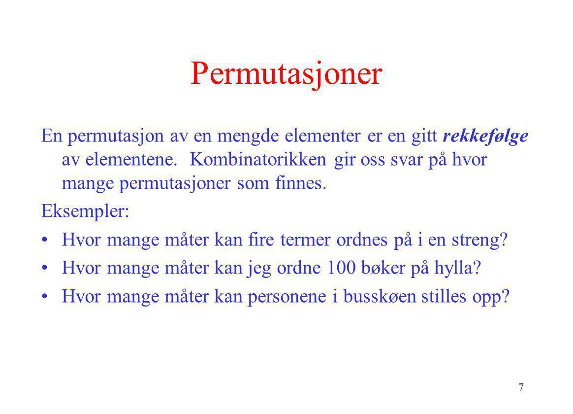 Permutasjoner