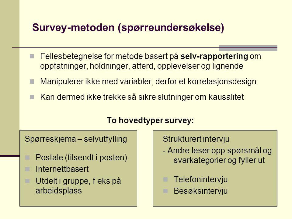 Survey-metoden (spørreundersøkelse)