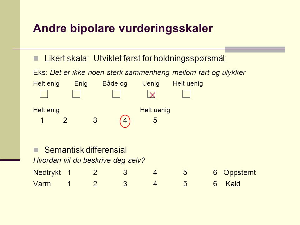 Andre bipolare vurderingsskaler