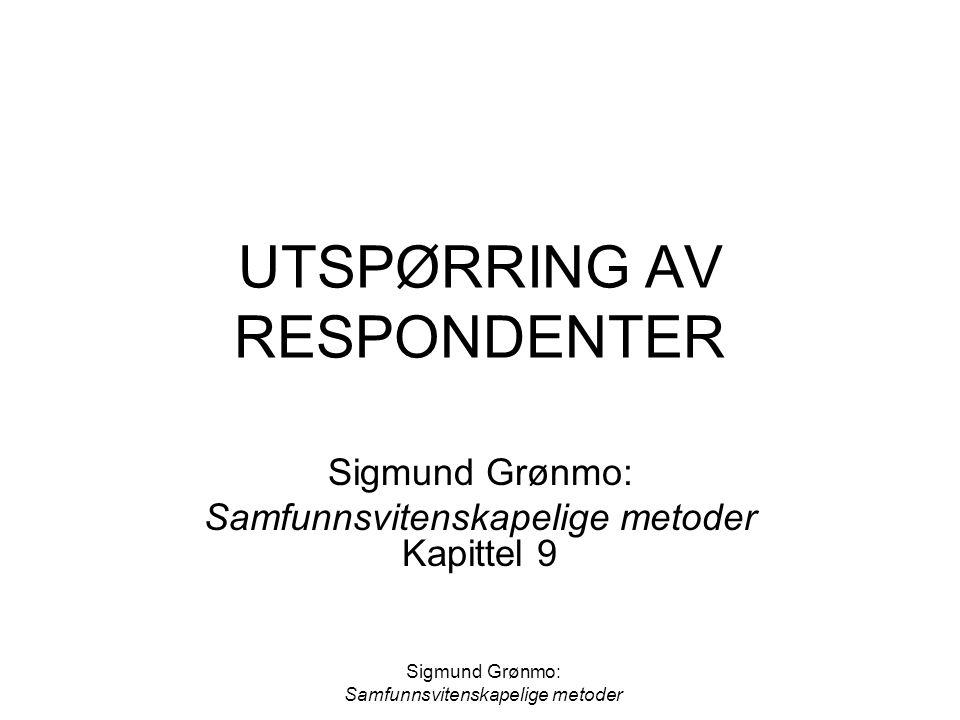 UTSPØRRING AV RESPONDENTER