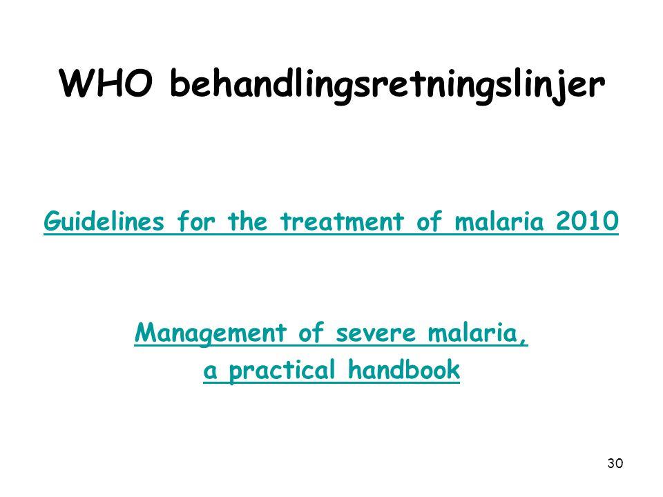 WHO behandlingsretningslinjer