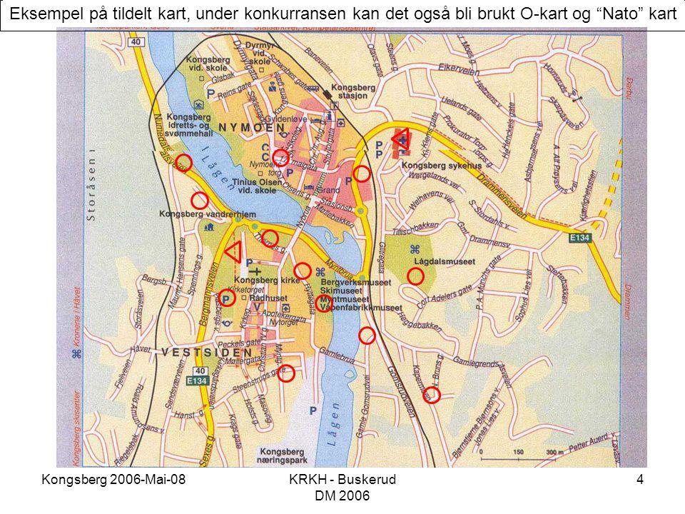 Eksempel på tildelt kart, under konkurransen kan det også bli brukt O-kart og Nato kart