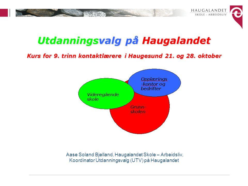 Utdanningsvalg på Haugalandet Kurs for 9