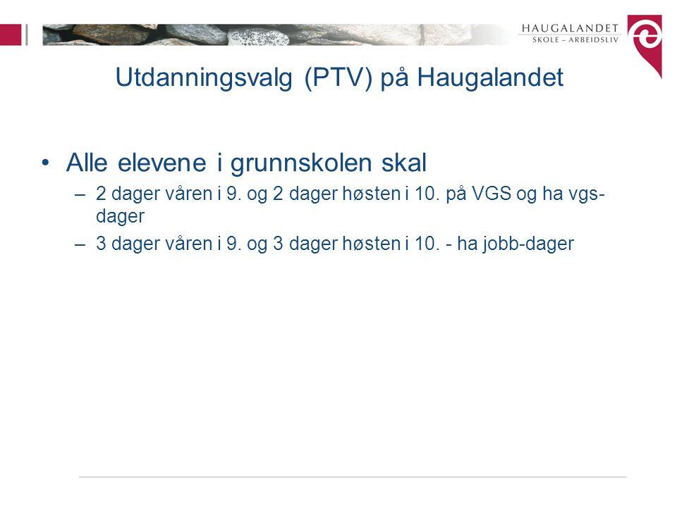 Utdanningsvalg (PTV) på Haugalandet