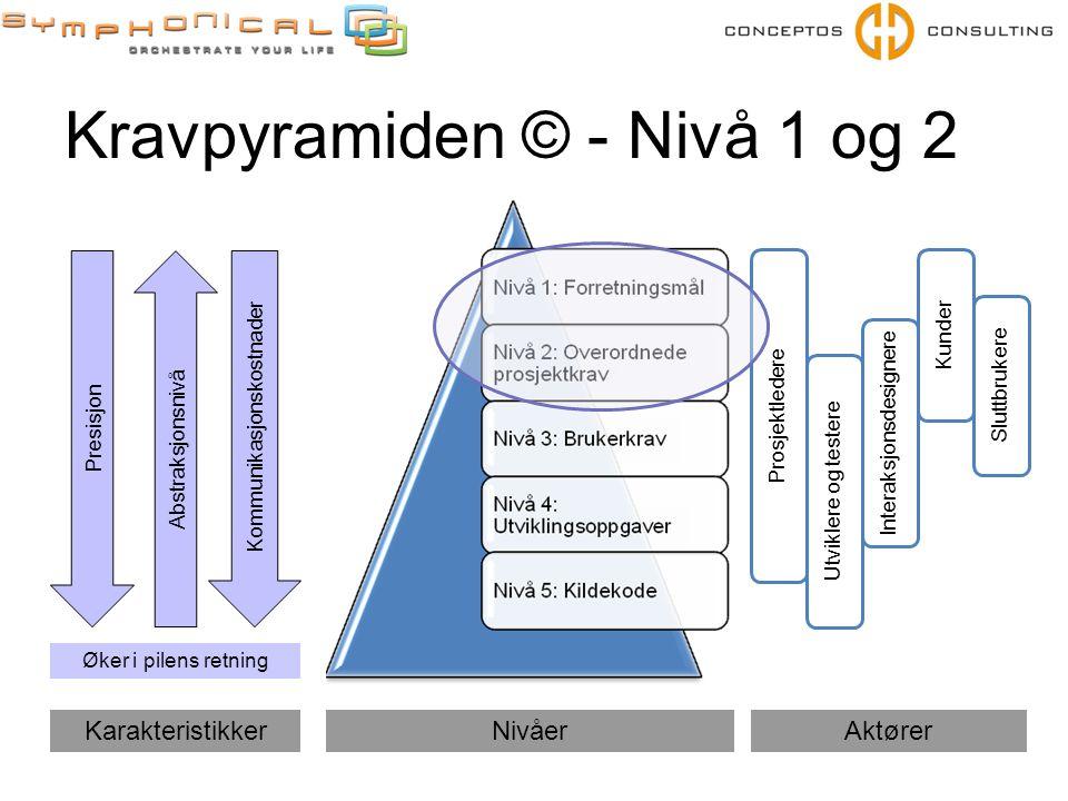 Kravpyramiden © - Nivå 1 og 2