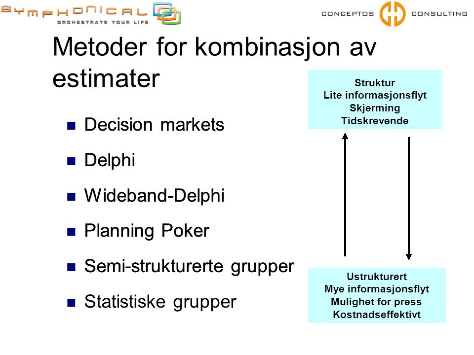 Metoder for kombinasjon av estimater