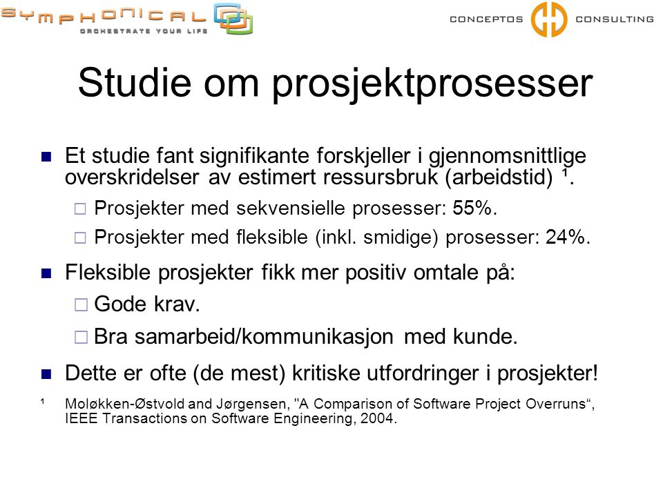 Studie om prosjektprosesser
