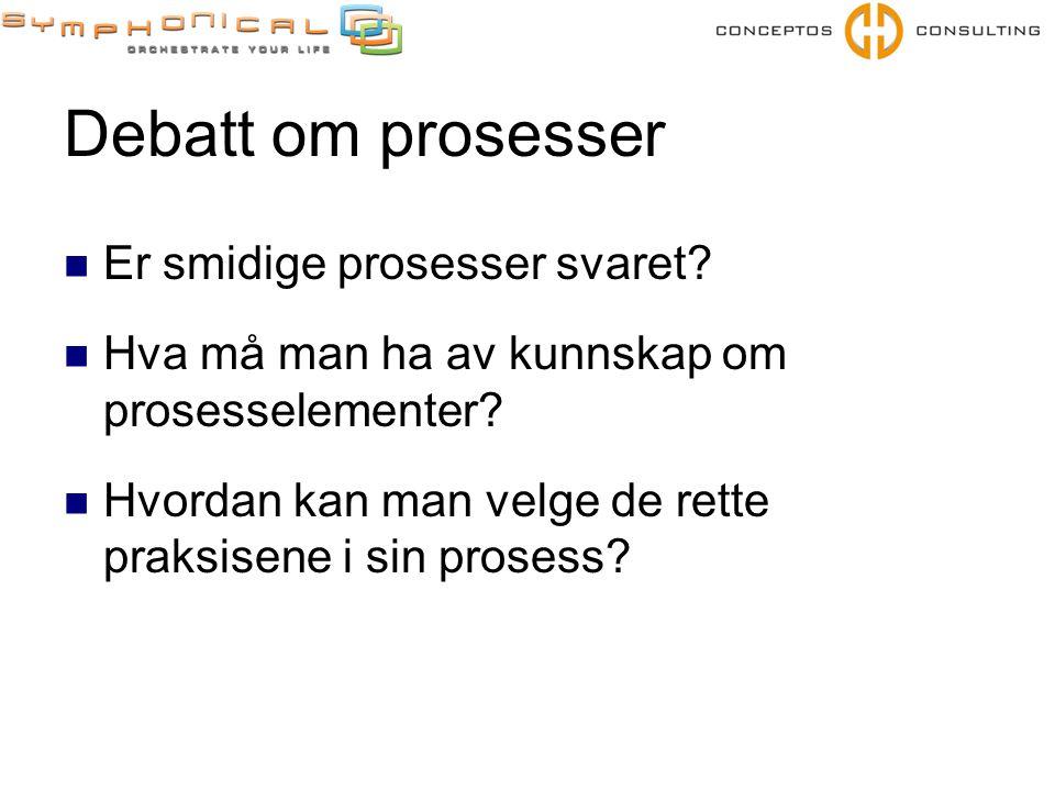 Debatt om prosesser Er smidige prosesser svaret