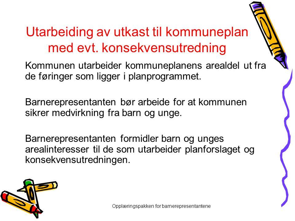 Utarbeiding av utkast til kommuneplan med evt. konsekvensutredning