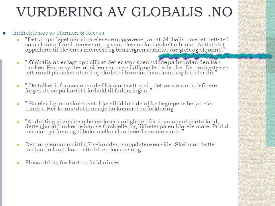 VURDERING AV GLOBALIS .NO