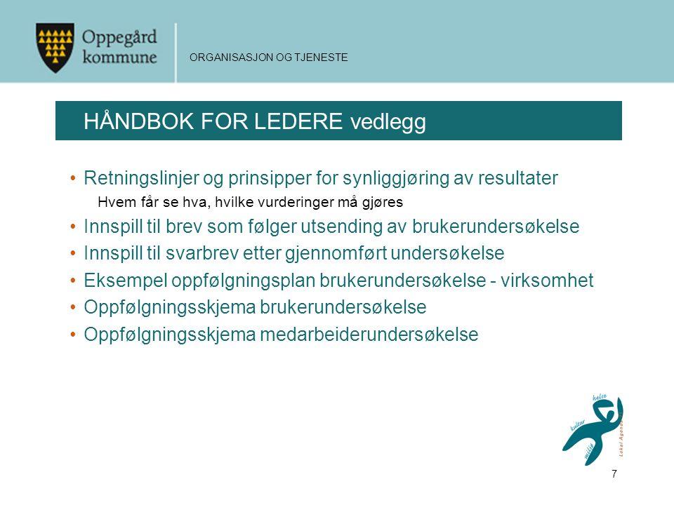 HÅNDBOK FOR LEDERE vedlegg