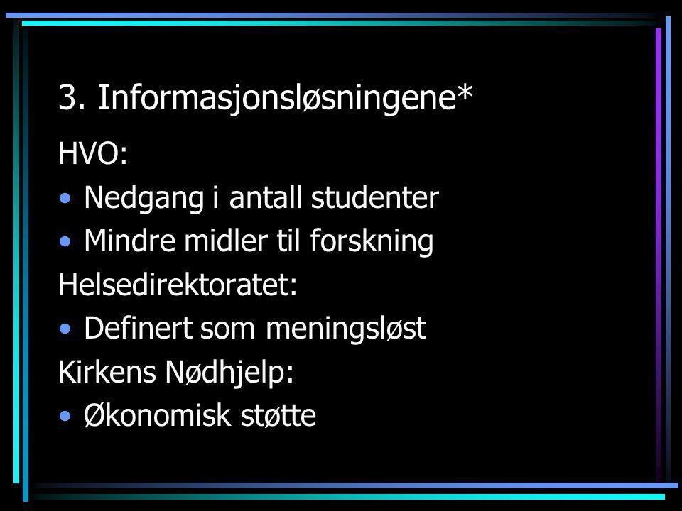 3. Informasjonsløsningene*