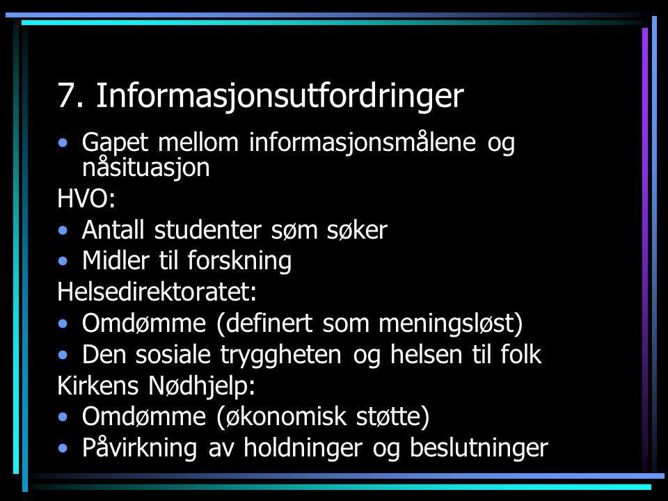 7. Informasjonsutfordringer