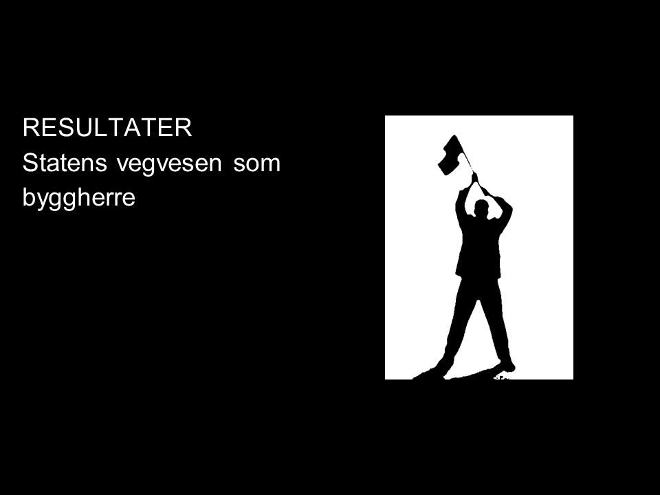 RESULTATER Statens vegvesen som byggherre