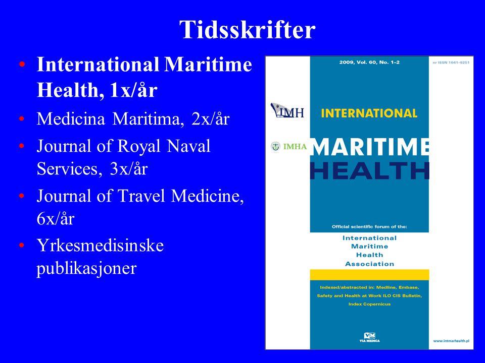 Tidsskrifter International Maritime Health, 1x/år
