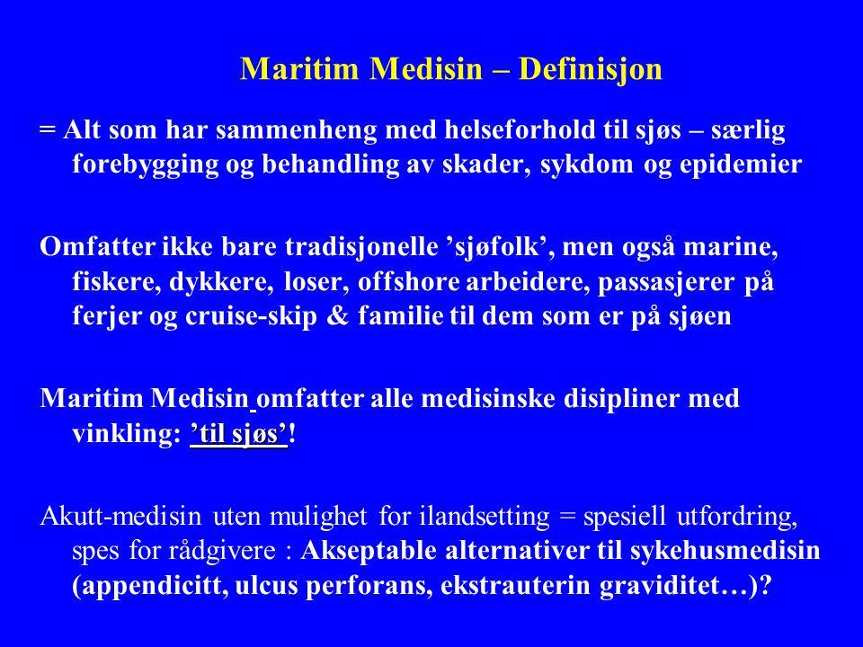 Maritim Medisin – Definisjon