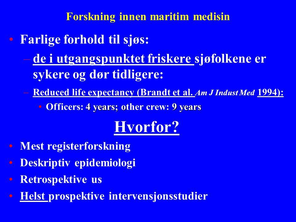 Forskning innen maritim medisin
