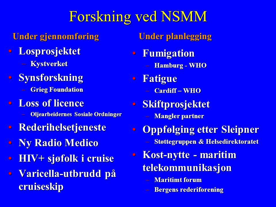 Forskning ved NSMM Losprosjektet Fumigation Synsforskning Fatigue